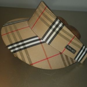 Vintage Burberry classic visor w/ adjustable strap